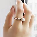 billige Herreringer-Dame Perle Byzantine Band Ring - Perle, Legering damer, Geometrisk, Grunnleggende Smykker Gull Til Daglig Stevnemøte 7