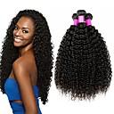 povoljno Ekstenzije od ljudske kose-4 paketića Brazilska kosa Kinky Curly Virgin kosa Ljudske kose plete Bundle kose Jedan Pack Solution 8-28 inch Prirodna boja Isprepliće ljudske kose Valentine Svilenkast Najbolja kvaliteta Proširenja