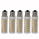 abordables Ampoules Maïs LED-5pcs 4.5 W 450 lm E12 Ampoules Maïs LED T 76 Perles LED SMD 2835 Intensité Réglable Blanc Chaud / Blanc Froid 220 V