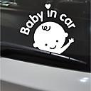 זול רכב הגוף קישוט והגנה-לבן / שחור מדבקות לרכב סרט מצוייר / סגנון חמוד / הוּמוֹר רכב זנב מדבקות / חלון לקצץ דמויות מדבקות