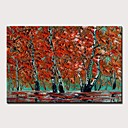 levne Abstraktní malby-Hang-malované olejomalba Ručně malované - Abstraktní Krajina Moderní Bez vnitřní rám / Válcované plátno