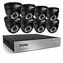 tanie Zestawy AHD-System zosi® 8ch 720p hdmi cctv rejestrator wideo 1 tb 4 sztuk 720 p wodoodporny zestaw do nadzoru bezpieczeństwa w domu