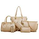 cheap Bag Sets-Women's Bags PU(Polyurethane) Bag Set 6 Pieces Purse Set Embossed Gold / Black / Beige