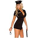 voordelige Gaming kostuums-Dames Politie carrière Kostuums Volwassenen Politie Uniformen Sekse Cosplay Kostuums Feestkostuum Effen Kleding Hoed