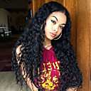 povoljno Perike s ljudskom kosom-Remy kosa Full Lace Lace Front Perika Asimetrična frizura stil Brazilska kosa Valovita kosa Loose Curl Natural Crna Perika 130% 150% 180% Gustoća kose Nježno Klasični Žene Najbolja kvaliteta