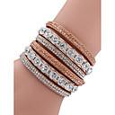 abordables Brazaletes-Mujer Legierung Diamante Moda Bloques / pulsera