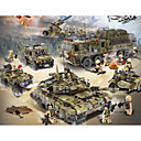 cheap Building Blocks-Building Blocks Block Minifigures Toy Playsets 256-1386 pcs Military Tank Warship compatible Legoing Simulation Military Vehicle Tank Plane All Boys' Girls' Toy Gift / Educational Toy