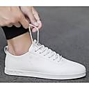 levne Pánské tenisky-Pánské Komfortní boty PU Léto Tenisky Bílá / Černobílá / Růžová a bílá