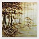 halpa Pöytävalaisimet-Hang-Painted öljymaalaus Maalattu - Abstrakti Moderni Sisällytä Inner Frame