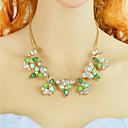 billige Ringer-Dame Blomster Uttalelse Halskjeder Mote Smuk Lys Grønn 44.5 cm Halskjeder Smykker 1pc Til Daglig