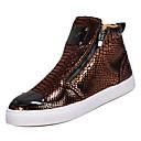 Χαμηλού Κόστους Αντρικά Αθλητικά-Ανδρικά Παπούτσια άνεσης PU Άνοιξη Καθημερινό Αθλητικά Παπούτσια Μη ολίσθηση Χρυσό / Μαύρο / Ασημί