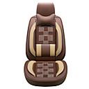 זול כיסויי למושבים לרכב-כיסויי למושבים לרכב משענת ראש & ערכות מותן כרית שחור / בז' / קפה עור עסקים עבור אוניברסלי כל השנים כל הדגמים