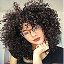 cheap Human Hair Wigs-Remy Human Hair Full Lace Lace Front Wig Asymmetrical style Brazilian Hair Afro Curly Wig 130% 150% 180% Density Fashionable Design Soft Women Comfortable curling Natural Women's Long Human Hair Lace