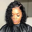 halpa Aitohiusperuukit verkolla-Remy-hius 360 Frontal Lace Front Peruukki Brasilialainen Kihara Peruukki Syvä hajoaminen 130% 150% 180% Hiusten tiheys ja vauvan hiukset Säädettävä Heat Resistant Paras laatu Paksu Luonnollinen