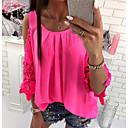 cheap Women's Sandals-Women's Blouse - Color Block Lace / Ruffle / Fashion / Spring / Summer / Fall