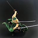halpa Anime-figuurit-Anime Toimintahahmot Innoittamana One Piece Roronoa Zoro PVC 20 cm CM Malli lelut Doll Toy