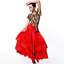 זול הלבשה לריקודים לטיניים-ריקוד לטיני חלקים תחתונים / פלמנקו בגדי ריקוד נשים הצגה ספנדקס סלסולים נפול חצאיות