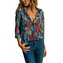 billige Syntetiske parykker-Dame - Geometrisk Trykt mønster Basale Skjorte