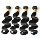 halpa Aitohiusperuukit-4 pakettia Brasilialainen Runsaat laineet Remy-hius Hiukset kutoo Bundle Hair Yksi pakkaus ratkaisu 8-28 inch Luonnollinen väri Hiukset kutoo Paras laatu Paksu Väritys Hiukset Extensions Naisten