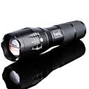 رخيصةأون المصابيح اليدوية وفوانيس الإضاءة للتخييم-LED Flashlights LED Cree® XM-L2 بواعث 3000 lm 5 إضاءة الوضع مع البطارية والشاحن ضد الماء زوومابلي Adjustable Focus Camping / Hiking / Caving Everyday Use أخضر أسود