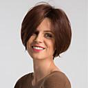 cheap Human Hair Capless Wigs-Human Hair Capless Wigs Human Hair Natural Straight Pixie Cut Fashionable Design / Easy dressing / Comfortable Burgundy Short Capless Wig Women's / Ombre Hair / Natural Hairline