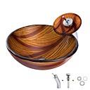 billige Hengelamper-bad vask / bad kran / bad montering ring antikk - herdet glass runde beholder vask combo