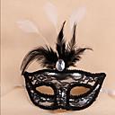 halpa Halloween- ja karnevaaliasut-Prinsessa Naamio / Venetsialainen naamio / Feather Net Hat Aikuisten Seksikäs Naisten Sininen / Fuksia / Kultainen Muovit / Sulka Party Cosplay-tarvikkeet Halloween / Karnevaali / Masquerade Puvut