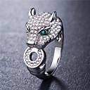 preiswerte Ringe-Damen Weiß Kubikzirkonia Ring Modisch Elegant Moderinge Schmuck Gold / Silber Für Hochzeit