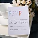 billige Bryllupsinvitasjoner-Flat Kort Bryllupsinvitasjoner 20 - Svare Kort Blomster stil Perle-papir