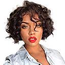 hesapli Gerçek Saç Örme Peruklar-Gerçek Saç Ön Dantel Peruk Bob Saç Kesimi Kısa Bob stil Düz Brezilya Saçı Dalgalı Siyah Peruk % 130 Saç yoğunluğu Bebek Saçlı Doğal saç çizgisi Siyahi Kadınlar İçin 100% bakire % 100 Elle Bağlanmış