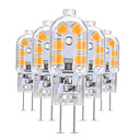 abordables Luces LED de 2 Pin-5pcs 3 W 200-300 lm G4 / G8 Luces LED de Doble Pin T 12 Cuentas LED SMD 2835 Encantador 12 V