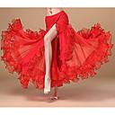 billige Sexede Uniformer-Spanske dame Skjørter Kostume Voksne Dame Flamenco Halloween Karneval Maskerade Festival / Højtider Polyester Grøn / Blå / Rosa Dame Karneval Kostume Blomster / botanik