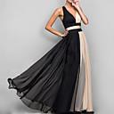 cheap Party Dresses-Women's Party / Birthday Basic Sheath / Chiffon Dress - Color Block Backless Spring Black M L XL