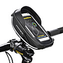 cheap Bike Handlebar Bags-PROMEND Cell Phone Bag Bike Handlebar Bag 6 inch Touch Screen Reflective Strips Cycling for Cycling iPhone X iPhone XR Black Cycling / Bike Bike / Cycling / iPhone XS / iPhone XS Max