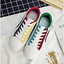 رخيصةأون سنيكرز رجالي-رجالي أحذية الراحة كانفا ربيع & الصيف أحذية رياضية أبيض / أسود