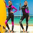 povoljno Mokra odijela i majice za kupanje-SBART Žene Dugo mokro odijelo 3mm SCR Neopren Ronilačka odijela Ugrijati Dugih rukava Povratak Zipper - Ronjenje Vodeni sportovi Kolaž Pasti Proljeće Ljeto / Mikroelastično