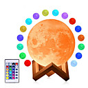 cheap Décor Lights-3D Moon Lamp USB LED Night Dimmable Light Moonlight Touch/Remote Color Changing