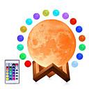 halpa Uutuusvalaisimet-3d kuun lamppu usb johti yö himmennettävä valo kuutamo kosketus / kauko värin muuttaminen
