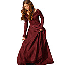 cheap Ethnic & Cultural Costumes-Retro / Vintage Medieval Costume Women's Dress Red / Green / Blue Vintage Cosplay Tea Party Festival Long Sleeve Long Length A-Line