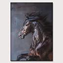 abordables Peintures d'Animaux-Peinture à l'huile Hang-peint Peint à la main - Abstrait Pop Art Classique Moderne Sans cadre intérieur