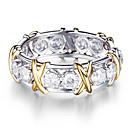 זול Fashion Ring-בגדי ריקוד נשים טבעת זירקונה מעוקבת 1pc כסף סגסוגת מעגלי טרנדי אלגנטית חתונה תכשיטים לְחַבֵּב חמוד