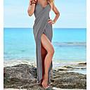 abordables Vêtements de Fitness, de Course et de Yoga-Femme Sans Bretelles Gris Jaune Vin Jupe Vêtement couvrant Maillots de Bain - Couleur Pleine M L XL Gris / Sexy