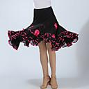 preiswerte Tanzkleidung für Balltänze-Für den Ballsaal Unten Damen Training / Leistung Polyester Applikationen / Horizontal gerüscht Hoch Röcke