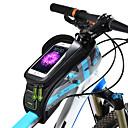זול כיסוי לאופניים-ROCKBROS טלפון נייד תיק תיקים למסגרת האופניים 5.8/6.0 אִינְטשׁ מסך מגע עמיד למים אוזניות חור רכיבת אופניים ל iPhone X iPhone XR iPhone XS תלתן אודם אפור כהה אופני כביש אופני הרים / iPhone XS Max