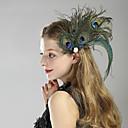 billige Historiske kostymer og vintagekosty,re-Den store Gatsby 1920-tallet Den store Gatsby Kostume Dame Flapperpannebånd i 1920-stil Hodeplagg Svart Vintage Cosplay Fjær Fest Skoleball Festival