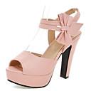 halpa Naisten sandaalit-Naisten PU Kesä Makea / minimalismi Sandaalit Paksu korko Avokärkiset korkokengät Ruseteilla Beesi / Purppura / Pinkki