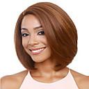 halpa Synteettiset peruukit-Naamiaistarvikkeet Naisten Suora Kulta Otsatukalla Synteettiset hiukset 38 inch Naisten Kulta / Tummanruskea Peruukki Lyhyt Koneella valmistettu Musta / Ruskea Vaalea kulta
