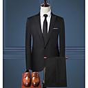 cheap Models & Model Kits-Men's Daily Fall & Winter Regular Suits, Solid Colored Notch Lapel Long Sleeve Polyester Navy Blue / Gray / Wine XL / XXL / XXXL / Slim