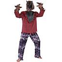 halpa Aikuisten asut-Warewolf Cosplay-Asut Aikuisten Miesten Halloween Halloween Masquerade Festivaali / loma Polyesteria Rubiini Karnevaalipuvut Ruutu / skotti