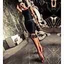 preiswerte Kleidung für Lateinamerikanischen Tanz-Latein-Tanz Kleider Damen Leistung Elasthan Quaste / Kombination Ärmellos Kleid
